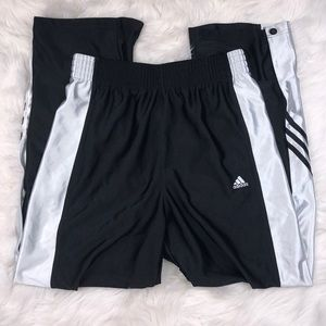 Adidas High Waisted Side Snap Track Pants